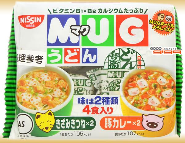 【吉嘉食品】日本 日清馬克杯麵(豆皮+咖哩)白 1包94公克4入90元{4902105016091}[#1]