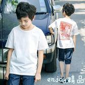 男童短袖t恤 中大童半袖純棉上衣