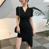 連身裙小性感洋裝女夏新款設計感超仙修身洋裝小心機夜店包臀裙 海角七號