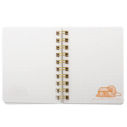 《Sanrio》蛋黃哥懶懶過生活系列迷你線圈筆記本(格紋)★funbox生活用品★_UA48326