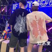 情侶T恤 情侶裝夏裝2019新款韓版情侶款夏季潮牌寬鬆短袖t恤 2色S-3XL