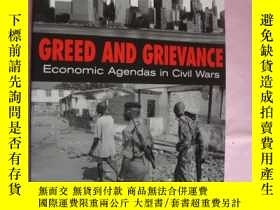 二手書博民逛書店GREED罕見AND GRIEVANCE (Economic A