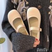 娃娃鞋瑪麗珍小皮鞋女 早春新款ins日繫可愛學生百搭一字扣圓頭單鞋 雙十二免運