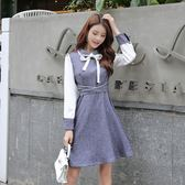 大韓訂製OL洋裝韓版上班族裙子蝴蝶結縮腰氣質連衣裙通勤