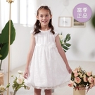 【南紡購物中心】【Annys安妮公主】唯美燒花雙層領拼接春夏款公主袖正式洋裝1126 白色08