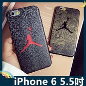 iPhone 6/6s Plus 5.5吋 蠶絲紋保護套 軟殼 空中飛人 公牛喬丹 潮牌同款 全包款 矽膠套 手機套 手機殼