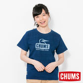 CHUMS 日本 女 Booby Face 短袖圓領T恤 Indigo丹寧藍 CH111198N030
