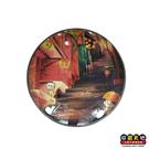 【收藏天地】台灣紀念品*水晶玻璃球冰箱貼-九份階梯