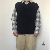 無袖襯衫針織背心男外搭毛衣馬甲【愛物及屋】