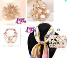 ★依芝鎂★k870絲巾扣多款絲巾環領巾環...