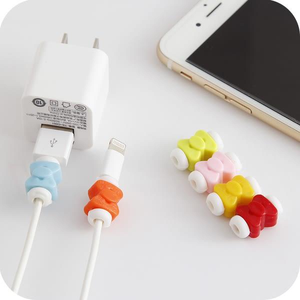 【SZ】蝴蝶結數據線夾 iPhone 7/8傳輸線套保護套 充電線 iPhone 7/8 Plus iPhone 6S plus X i線套