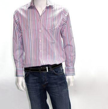 『摩達客』英國進口【Charles Tyrwhitt】高級彩色多緞紋長袖襯衫(1028001001)