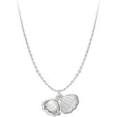 滄海拾貝精致可打開貝殼S925純銀珍珠項鍊鎖骨鍊禮物女送朋友禮物