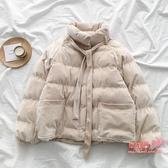麵包服 燈芯絨立領棉服秋冬季2020新款女裝韓版網紅寬鬆棉衣學生bf外套潮 2色