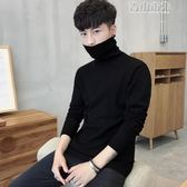 男士修身打底衫高領毛衣純色針織衫長袖韓版加絨加厚線衫男裝 青山市集