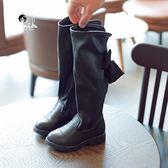 靴子 女童高筒靴兒童韓版百搭過膝靴2018秋冬季新款公主加絨小女孩長靴 雙11狂歡購物節