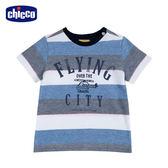 chicco-翱翔-寬條紋短袖上衣
