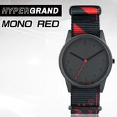 """Hypergrand新加坡設計師品牌01基本款系列""""LO-FI""""MONO RED單紅金屬腕錶NW01M0N0公司貨"""