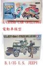 【震撼精品百貨】1/22CRASH CAR OPEL1909電動車模型/1/35U.S.JEEPL模型【共2款】