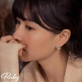 耳環 韓國直送‧宮廷風單色寶石耳環-Ruby s 露比午茶