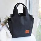 飯盒袋手提包韓版飯袋便當包女防水手提袋飯盒包學生便當袋大號 茱莉亞