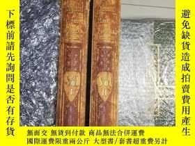 二手書博民逛書店約1860年罕見超大開本 2本全 OLD ENGLAND 含約2