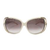 Dior 迪奧 米白色膠框兩側飾金邊母貝太陽眼鏡 墨鏡 SUNGLASSES 【BRAND OFF】