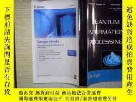 二手書博民逛書店QUANTUM罕見INFORMATION PROCESSINGY