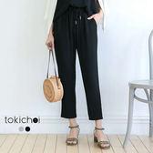 東京著衣-百搭質感金屬繩尾長褲-S.M(180868)