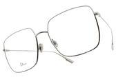 Dior 光學眼鏡 STELLAIREO1 010 (銀) 法式優雅方框款 #金橘眼鏡