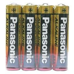 【奇奇文具】【國際牌PANAOSNIC】4號 AAA 鹼性電池 收縮膜 (4入/封)