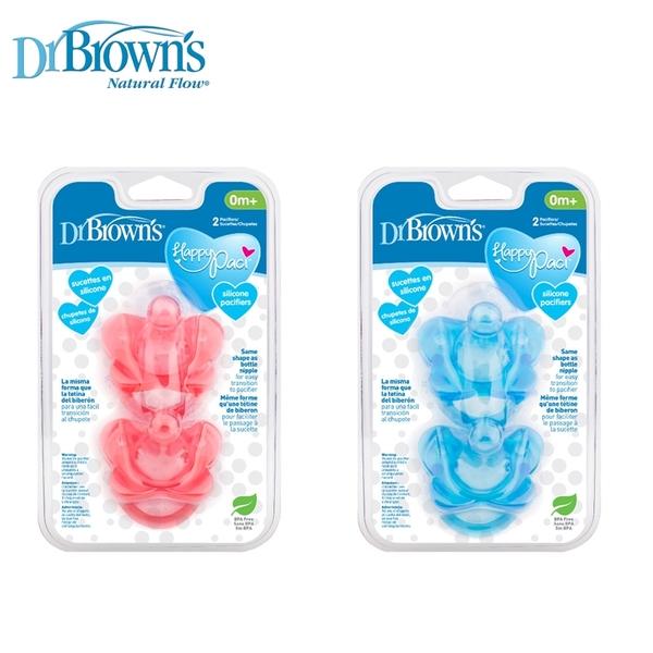 新款【嬰之房】Dr. Brown s布朗博士 早產/新生兒專用矽膠安撫奶嘴 0-6月(2入-藍)
