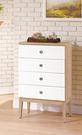【森可家居】金美2尺四斗櫃 7ZX132-6 白色 四抽屜 木紋質感 無印風 北歐風 衣物收納