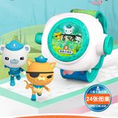 小男女孩子變形金剛機器人手錶卡通電子錶海底小縱隊兒童投影玩具