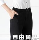 西裝褲春夏黑色直筒褲上班職業褲正裝工作褲工裝高腰薄款西褲女 自由角落