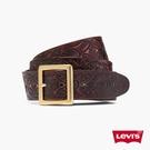 Levis 男款 MIJ日本製真皮皮帶 / 日本職人精工刻紋 / 方形金屬釦