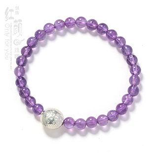 紫水晶銀魚手鏈
