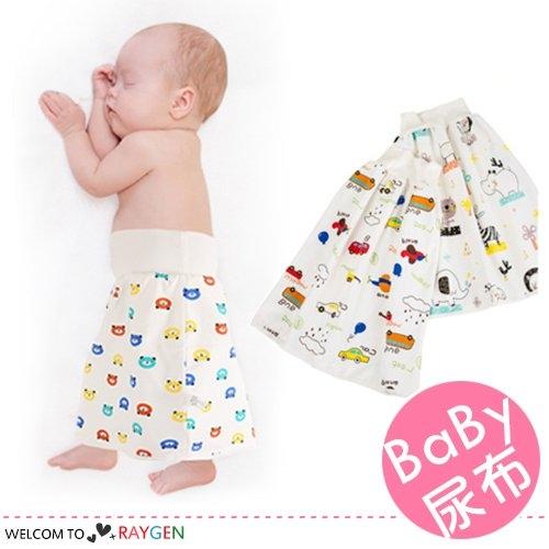 卡通印花寶寶高腰防水隔尿裙 訓練褲 尿布 學習褲