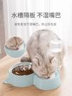 貓碗 貓碗狗碗雙碗自動飲水不濕嘴防打翻不銹鋼貓食盆寵物碗貓咪用品 夢藝家