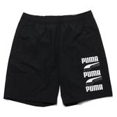PUMA 黑 側白大LOGO風褲 短褲 基本款 男 (布魯克林) 58279601