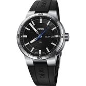 ORIS 豪利時 TT1 日期一級方程式車隊機械錶-黑/42mm 0173577524154-0742406FC