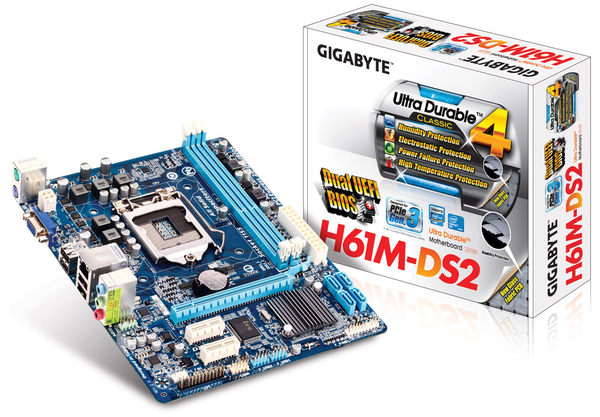 【台中平價鋪】全新 技嘉 GA-H61M-DS2 主機板 Gigabyte 1155腳位
