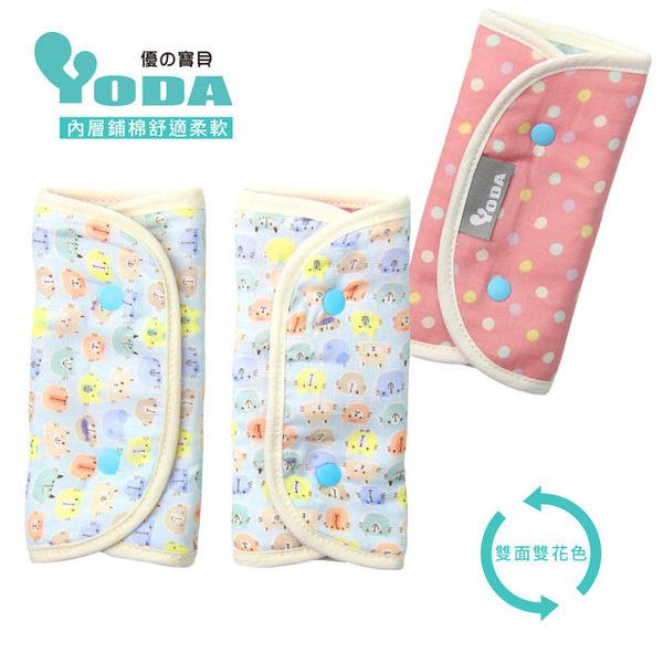 【YoDa】和風輕柔日本紗鋪棉口水巾(喵喵你我他-粉藍)