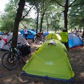 公狼帳篷戶外2人3-4雙人野營裝備鋁桿輕便防雨野外露營加厚防暴雨  ATF  極有家