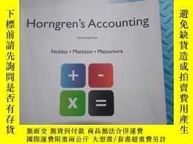 二手書博民逛書店HORNGREN S罕見ACCOUNTING (tenth Edition)Y6699 NOBLES. MAT