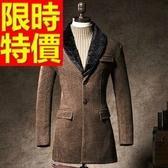 毛呢大衣-羊毛品味防風短版男風衣外套62n42【巴黎精品】