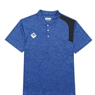 KAPPA義大利 時尚型男舒適吸濕排汗短袖POLO衫 義大利藍麻花 321752WX7F