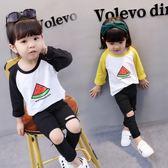女寶寶打底衫秋裝新款1長袖2韓版3純棉4周歲女童秋季上衣t恤