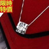 項鍊925純銀-優雅立體愛心型生日情人節禮物吊墜子67o4[巴黎精品]