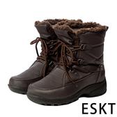 【ESKT】女中筒雪鞋『咖啡』SN223 雪靴.賞雪必備.冰爪.防滑鞋底.雪地.靴.賞雪.滑雪.冬天.保暖